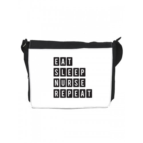 Shoulder Bag Large Eat Sleep Nurse Repeat