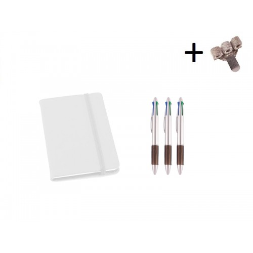 Set Notebook A6 + Pens White