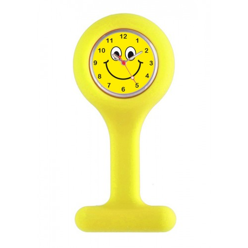Silicone Nurse Fob Watch Yellow Happy Face