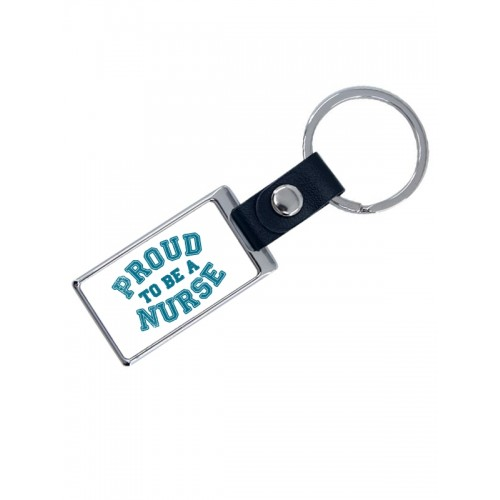 Luxe Key Chain Proud Nurse with Name Print