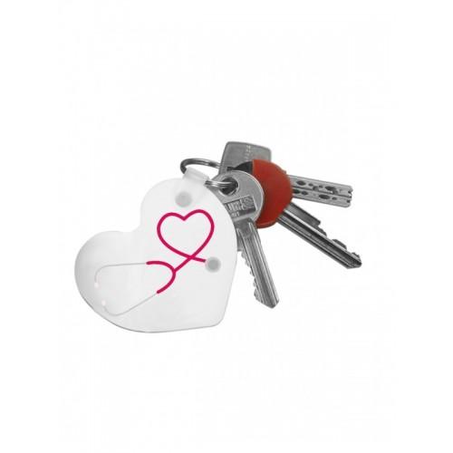 Key Chain Heart Stethoscope with Name Print