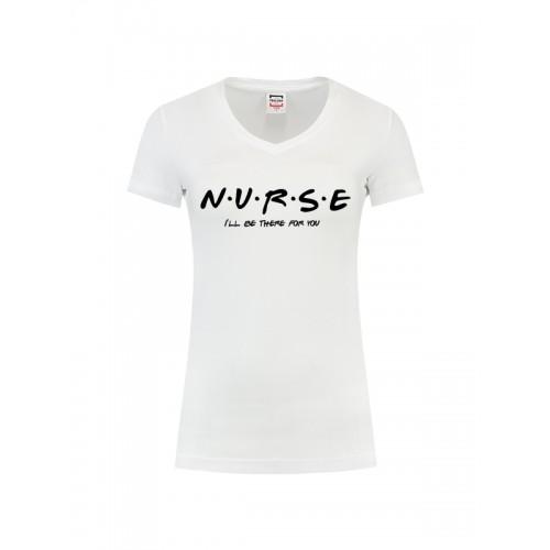 Womens T-Shirt Nurse For You White